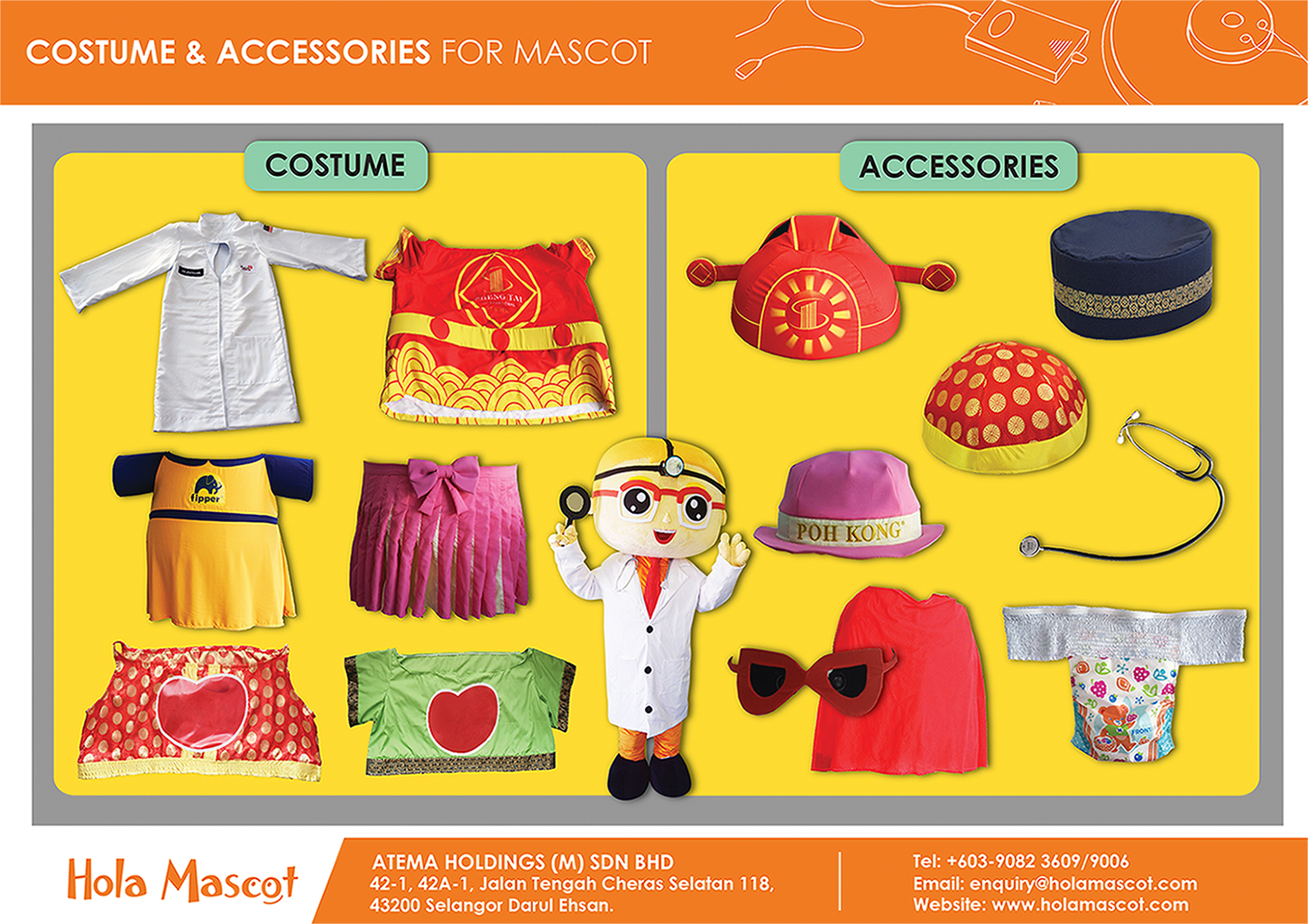 clothing accessories for mascot